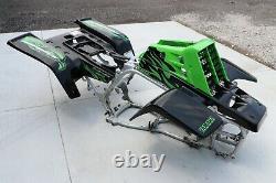Yamaha Banshee fenders + gas tank plastic + grill + graphics BLACK GREEN
