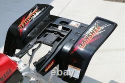 Yamaha Banshee fenders + gas tank plastic grill + graphics BLACK RED 1997