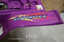 Yamaha Banshee fenders + gas tank plastic grill + graphics BRIGHT PURPLE 1995