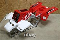 Yamaha Banshee fenders + gas tank plastic + grill + graphics WHITE & RED 2009