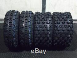 Yamaha Yfz 350 Banshee Quadking Sport Atv Tires (4 Tires) 21x7-10, 20x10-9