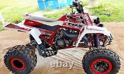 Yamaha banshee full graphics kit Red. THICK AND HIGH GLOSS
