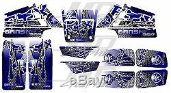 Yamaha banshee full graphics kit blue. THICK AND HIGH GLOSS