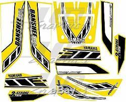 Yamaha banshee full graphics kit special edition yellow